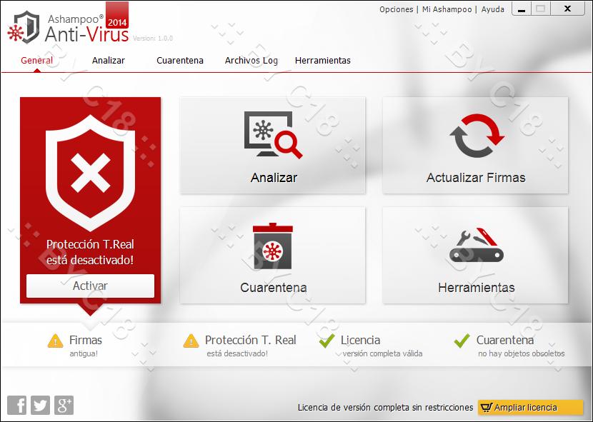 ashampoo - Ashampoo Anti-Virus 2014 1.0.0 Español [Con dos motores emsisoft + bitdefender] 26-09-2013+10-37-46+a-m-