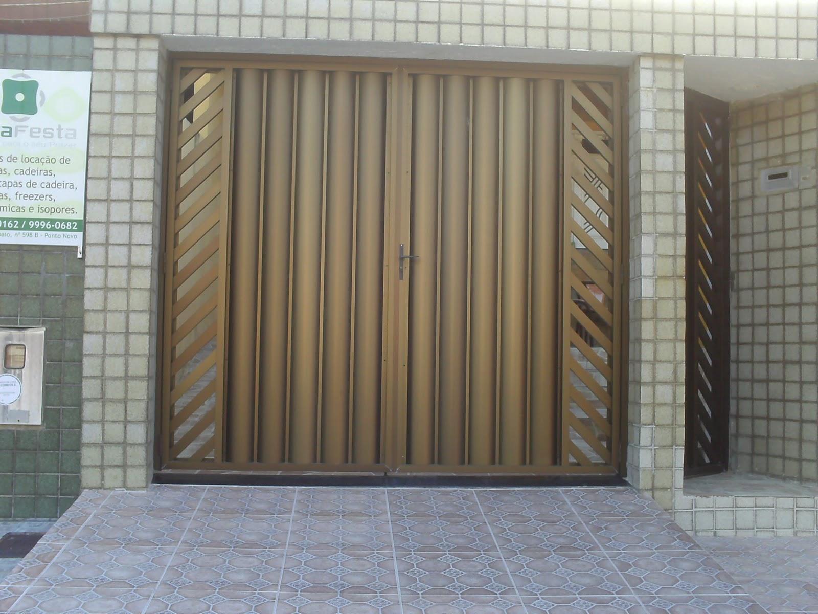 #70614B  Portões Basculante Automáticos: Portão de Aluminio em Bronze 1696 Janela De Aluminio Na Cor Bronze