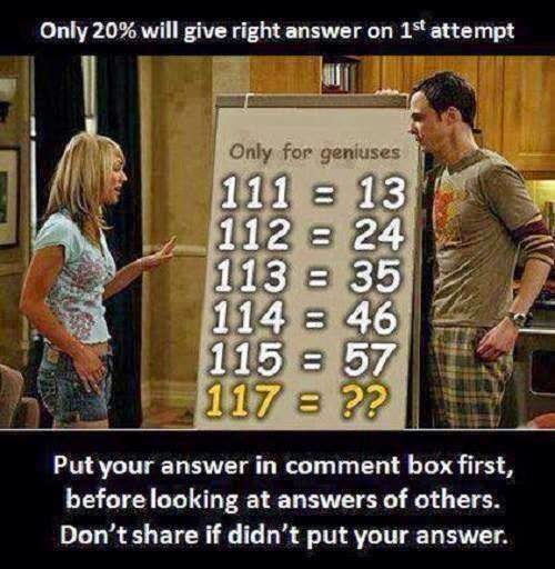 Mean you re a genius but these puzzles from facebook can still be fun