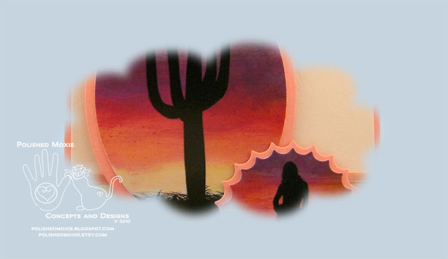 Portion of the image on my handmade Southwestern Sunrise Card