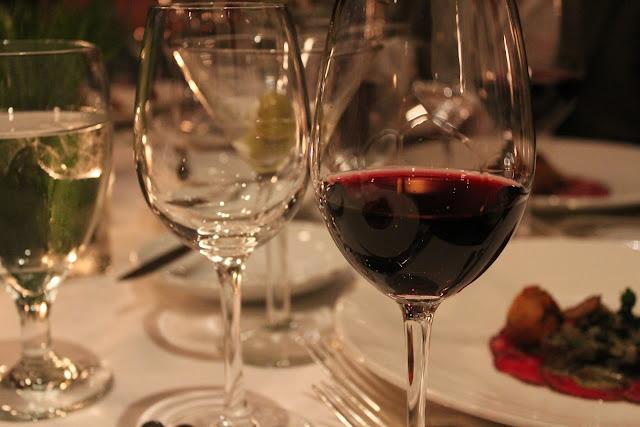 Glass of Grenache at Grill 23, Boston, Mass.