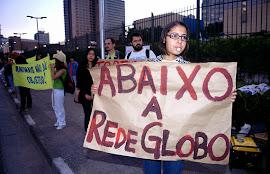 Protesto contra a Globo