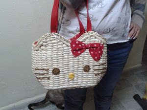 BOLSO RAFIA HELLO KITTY