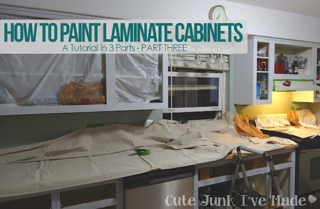 How to Paint Laminate Cabinets - Part Three:  Finishing Touches
