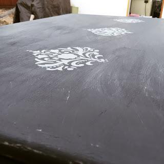 charcoal chalk paint stencil