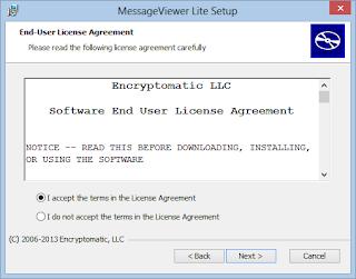 MessageViewer Lite .eml viewer licence agreement