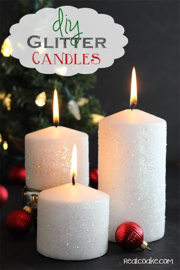 how to make a glitter candle diy home decor the real