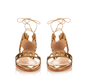Paula Cadematori Lotus Lace-Up Leather and Cork Sandals