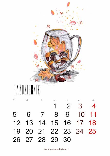*kalendarz do druku* miesiąc PAŹDZIERNIK 2015