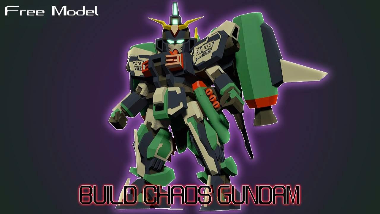 SD Chaos Gundam Papercraft