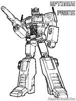 Optimus Prime Transformer Coloring Pages Printable