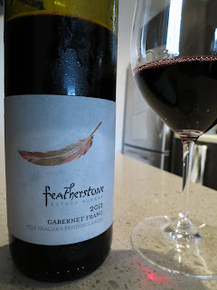 Wine Review of 2011 Featherstone Cabernet Franc from Niagara Peninsula, Ontario