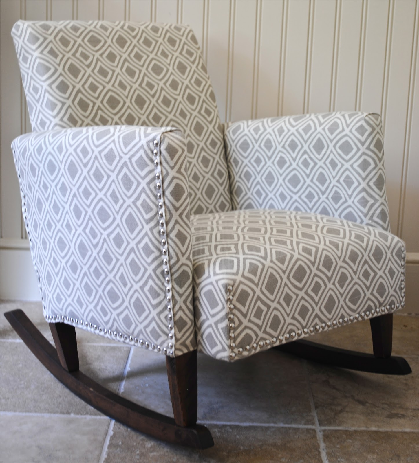 Diy ish upholstered child s rocking chair the