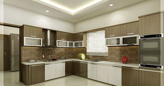 Single Floor House Elevation In : Kitchen and dining interiors kerala home design
