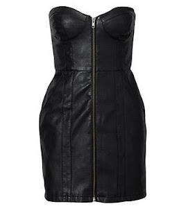 vestido de couro H&M