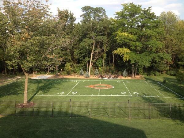 Backyard Soccer Field : Chicago Bears Fans Backyard Is All About The Chicago Bears (Photo