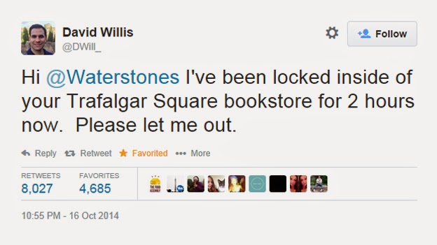 Tourist Locked Inside a Bookstore Uses Twitter to Get Himself Freed