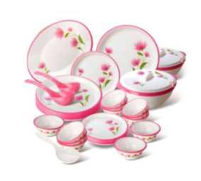 Buy Bridal Flora 32 pcs Dinner Set at flat 77% off at Rs.344 : Buy To Earn