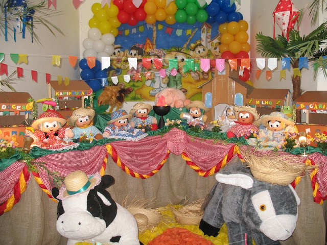 tema infantil Festa Junina da Mônica