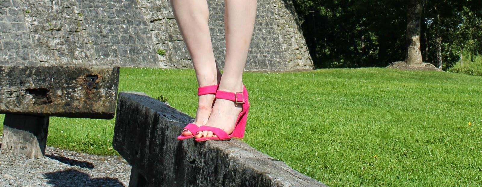 Pink Primark sandals