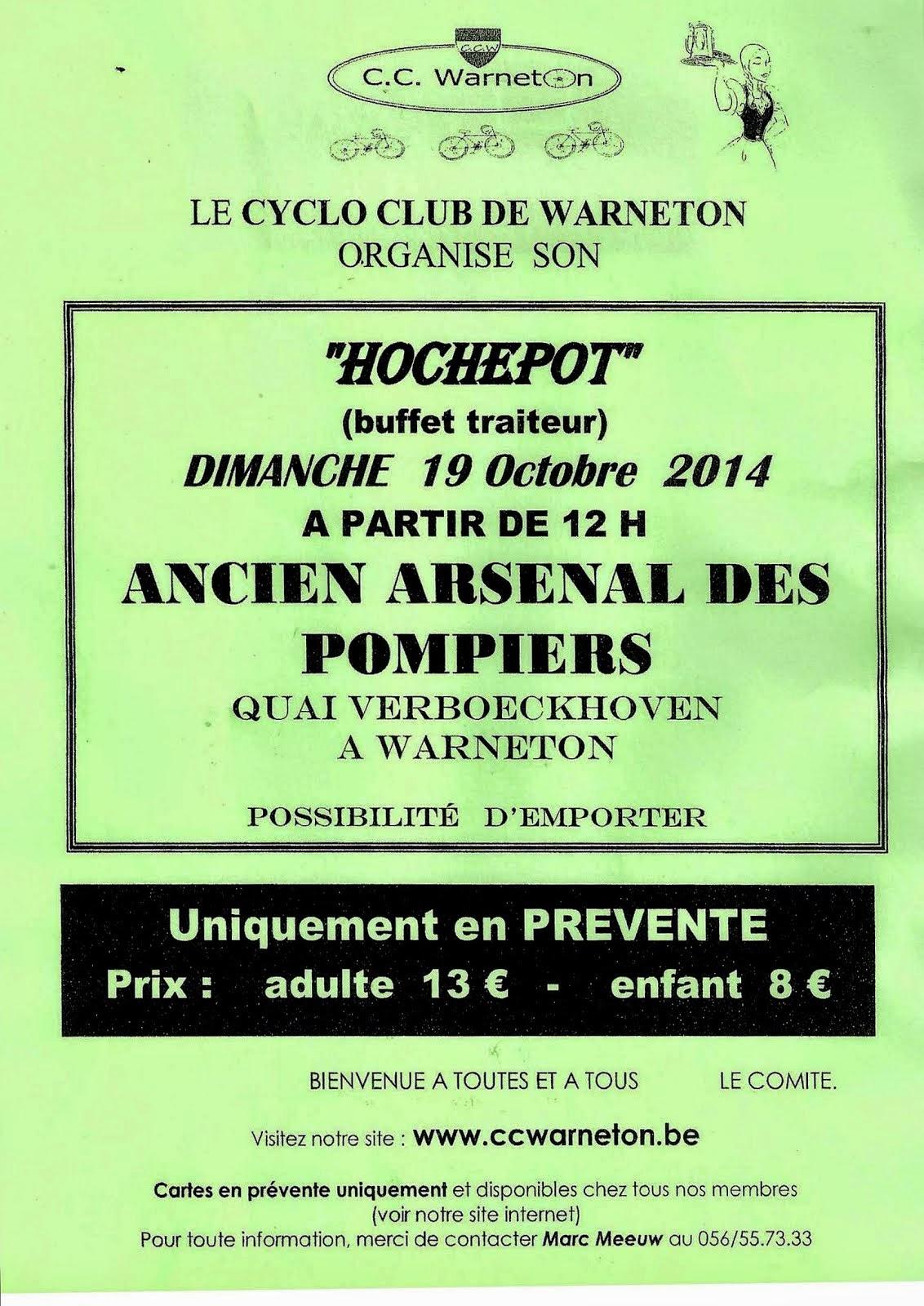 19 octobre repas du Cyclo Club de Warneton