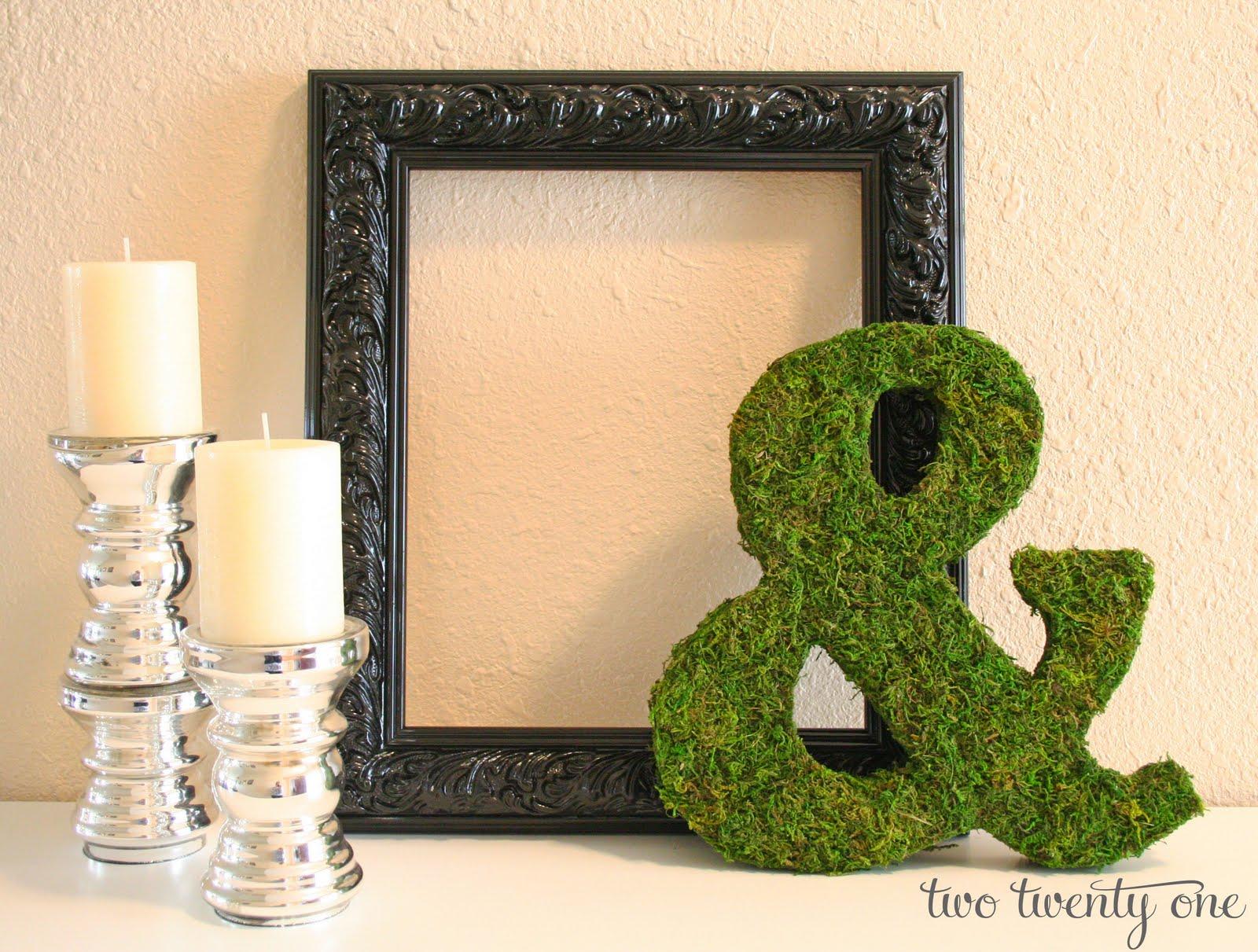 Mossy Ampersand Tutorial Diy