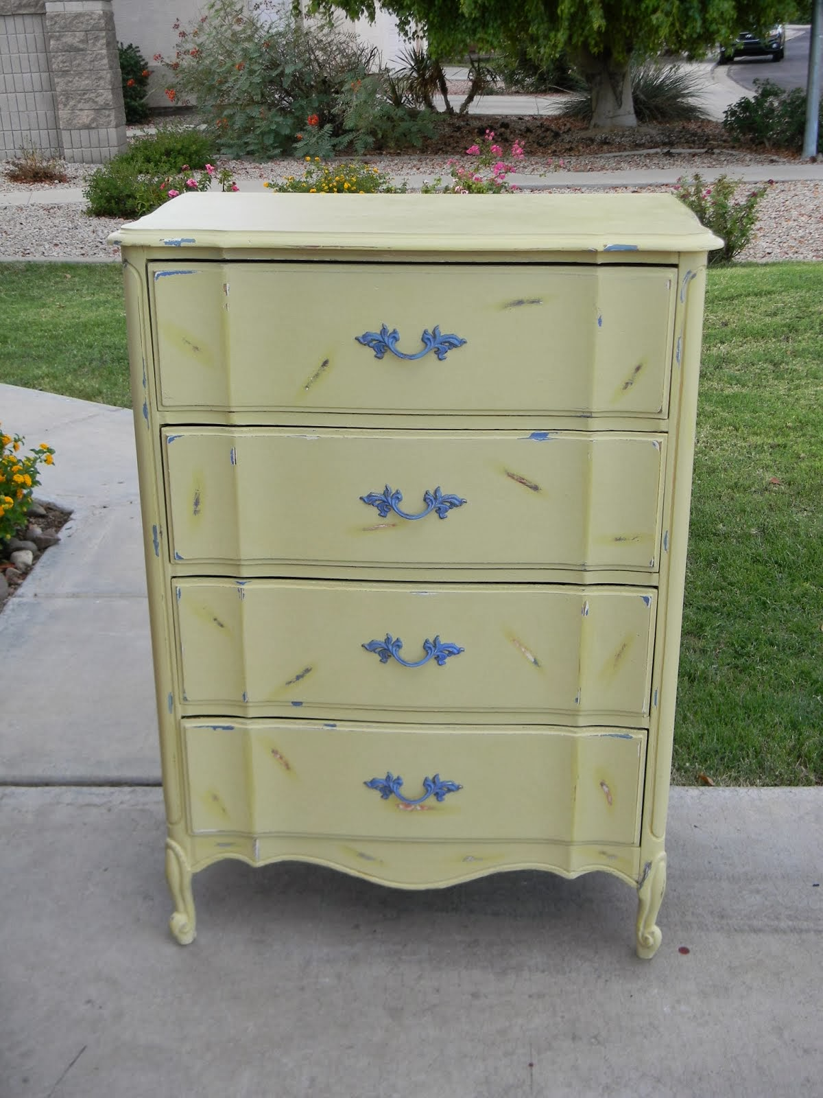 Shabby Chic Buttercream Dresser  *SOLD*