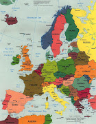 Map of Europe Continental Pictures