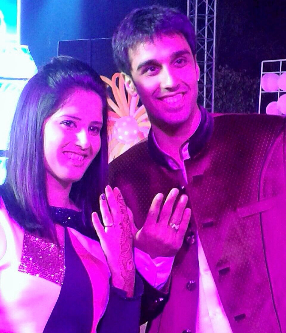 Pradnya Gadre and Pranaav Chopra engaged