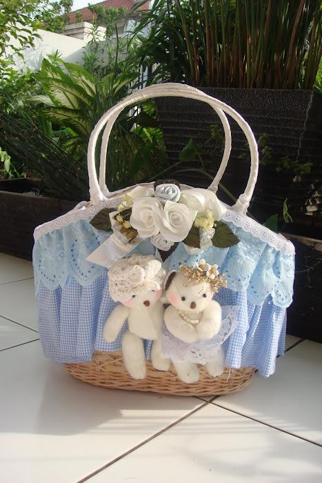 tas keranjang besar boneka bear cewe cowo