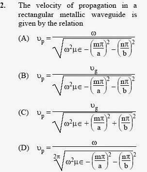 2013 December UGC NET in Electronic Science, Paper II, Question 2