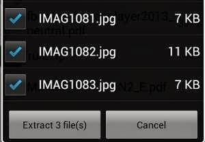 Criar ou extrair arquivos Rar / Zip no Android