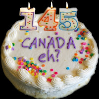 canada eh? birthday cake with 145 candle