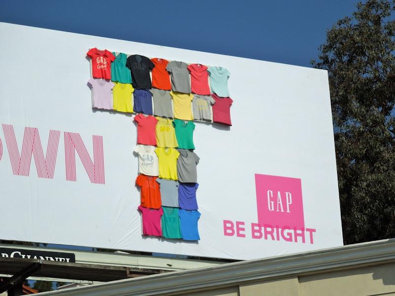 Gap Be Your Own T tshirt billboard