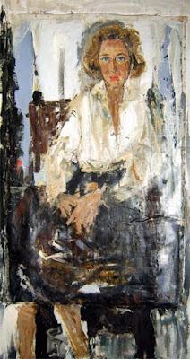 Luisa Richter Clara Sujo. 1979. Óleo sobre tela y masonite 182,8 x 100cm