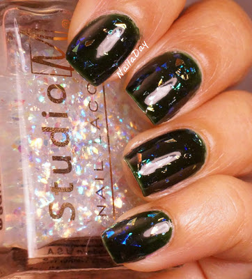 NailaDay: Finger Paints Tough Art to Follow with Studio M Covered in Diamonds