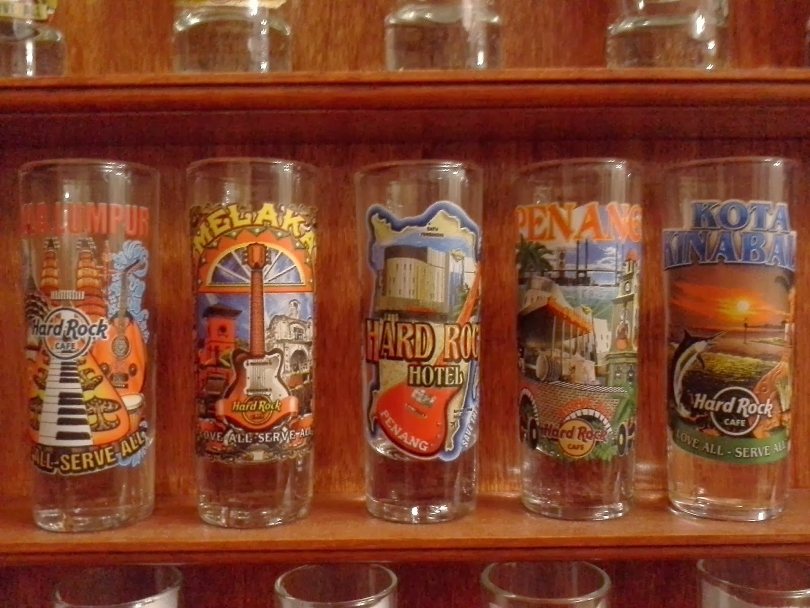 Hard Rock Cafe Shot Glass Collection