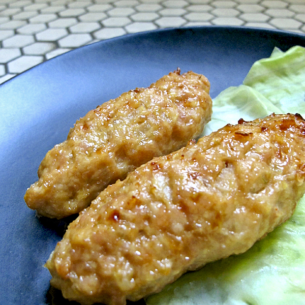tsukune skewers of grilled chicken patties ground chicken mixed with ...