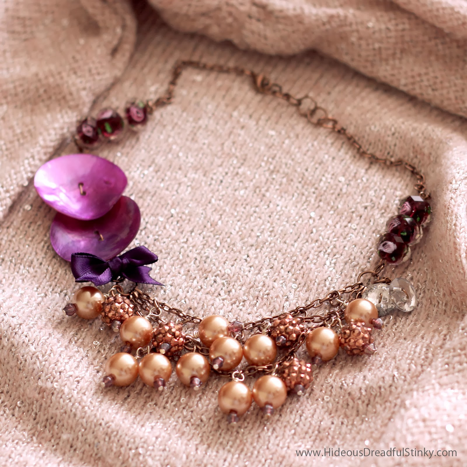 radiant orchid statement necklace
