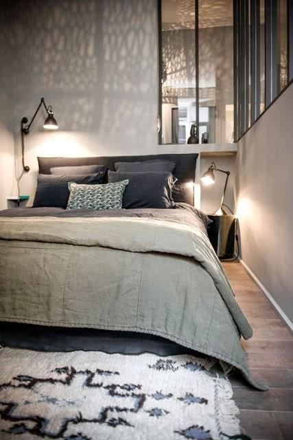 Lyon Appartement Dhtes Total Look Gris Et Bleu Encre