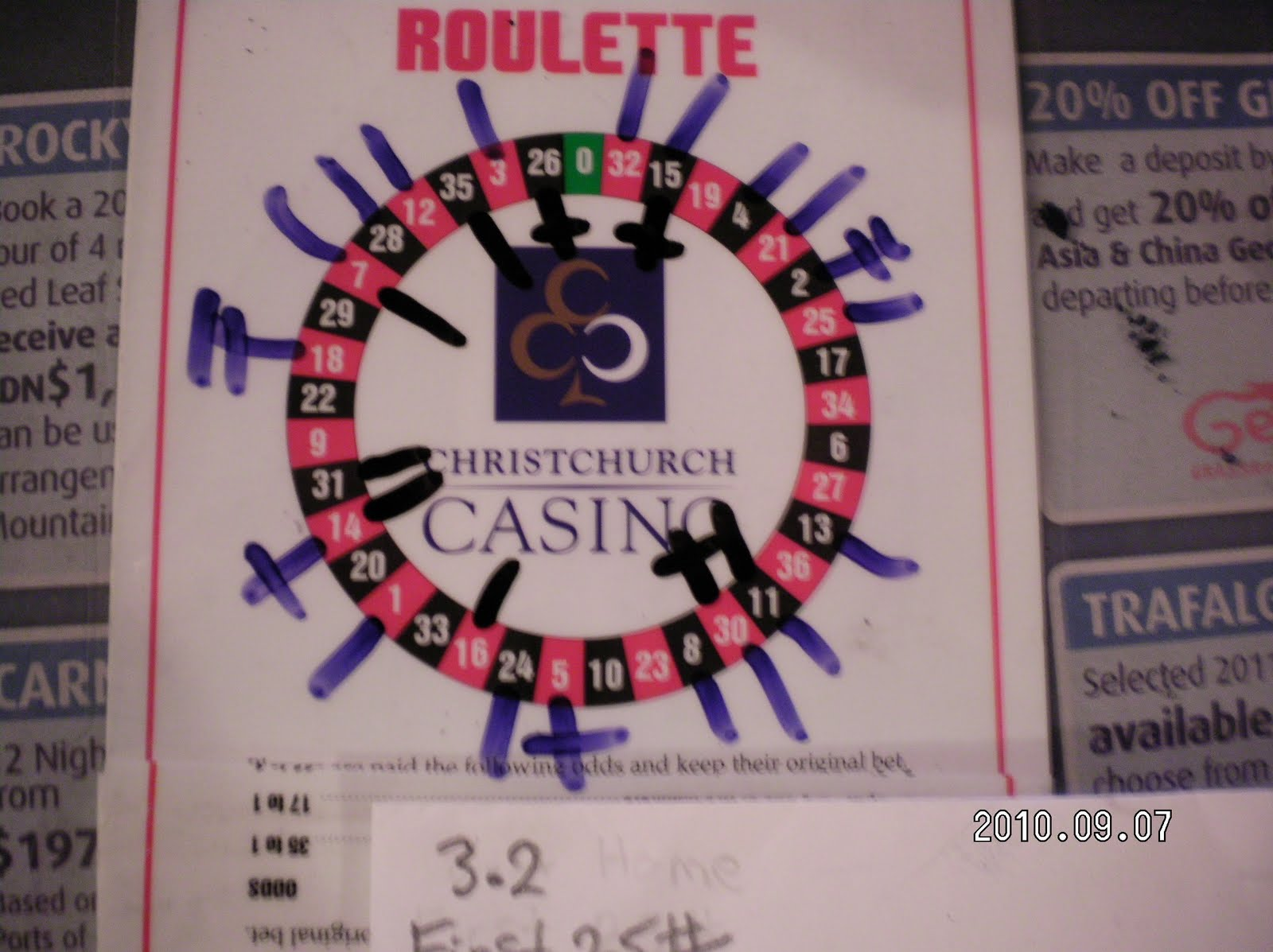 most roulette winning numbers