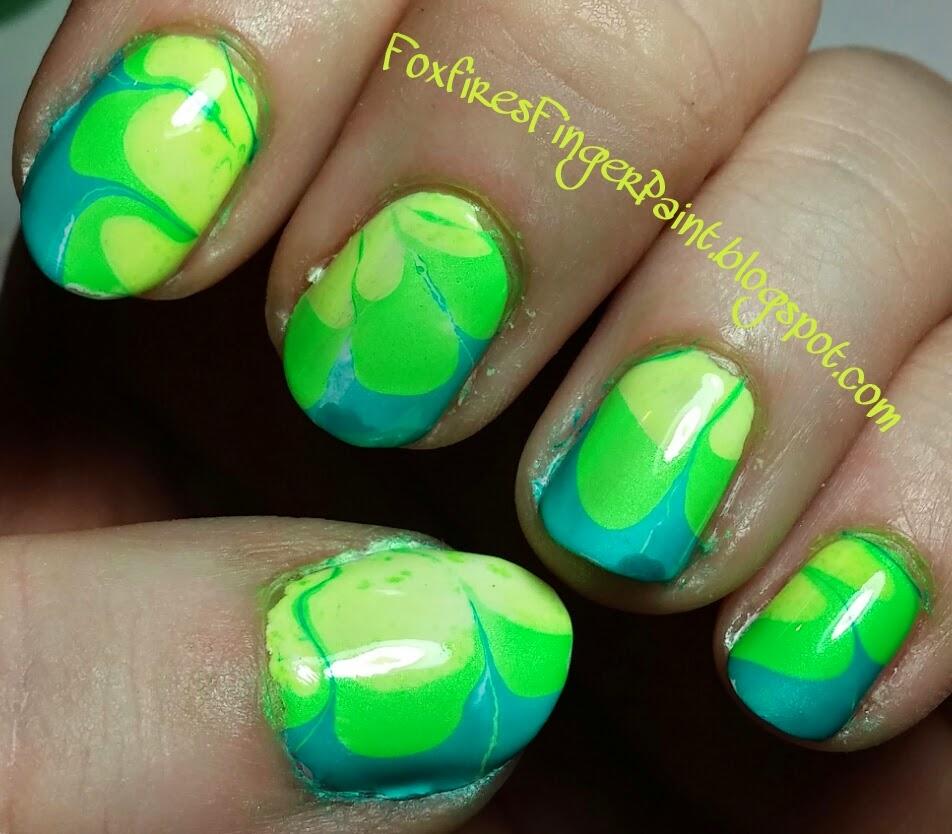 Foxfire\'s Finger Paint: China Glaze Water Marbling Kit.