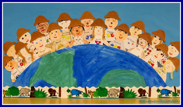 photo of: Kindergarten Safari Bulletin Board RoundUP via RainbowsWithinReach
