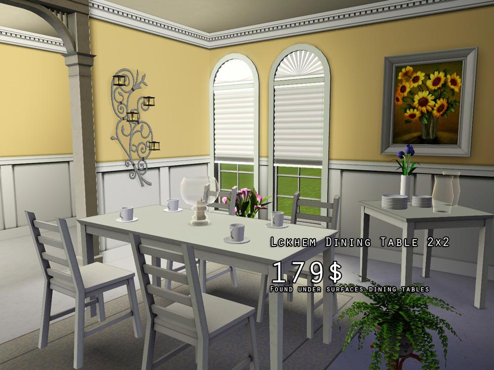 Ikea Esstisch Lyckhem ~ My Sims 3 Blog Lyckhemkaustby Dining Set by rolltocrit