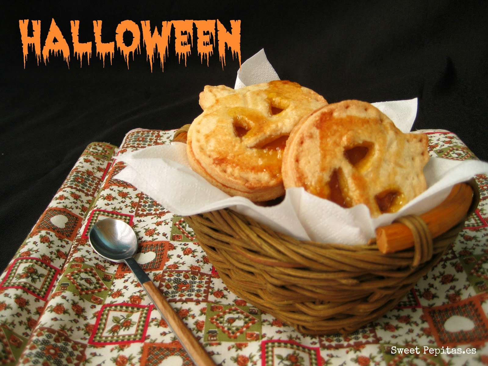 Galletas calabaza Halloween