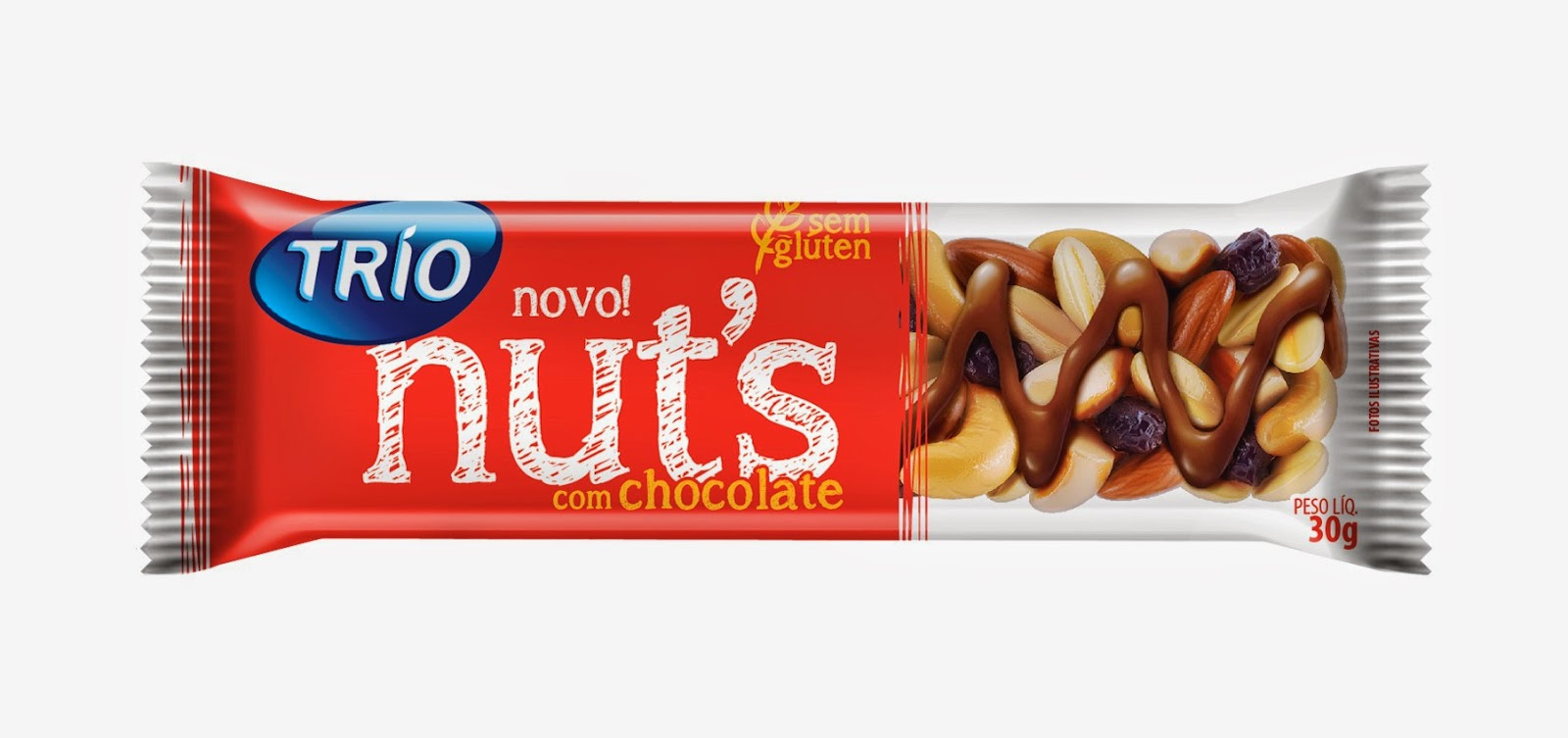 barra de cereal trio chocolate