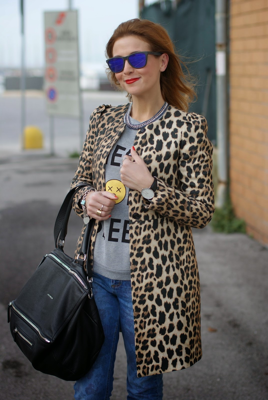Zara leopard coat, Luca barra gioielli, Daniel Wellington Classic Sheffield watch, Fashion and Cookies, fashion blogger