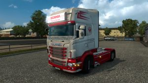 Scania RJL White & Red Skin