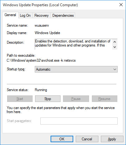 Disable Windows Update