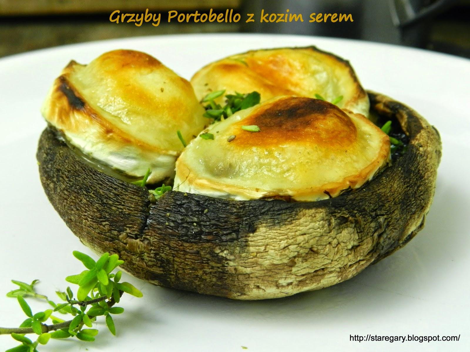 Grzyby Portobello z kozim serem